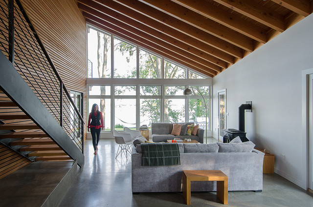 The Projector House  Contemporary  Living Room  Burlington  by Cultivation Design Build