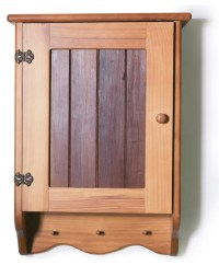 Wooden Bathroom Wall Cabinet with Timber Front Panel ...
