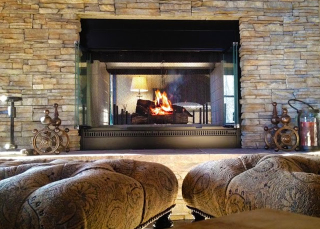 El Dorado Fireplace Nantucket Stacked Stone
