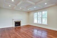 Large Living Room w/Marble Fireplace, Coffered Ceiling ...