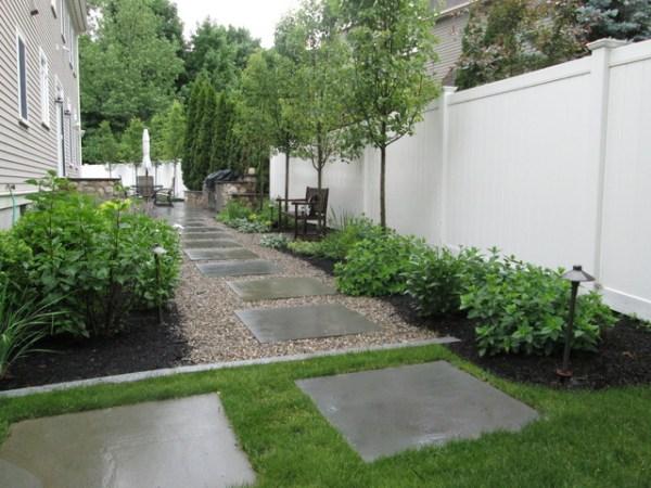 side yard garden walkway path