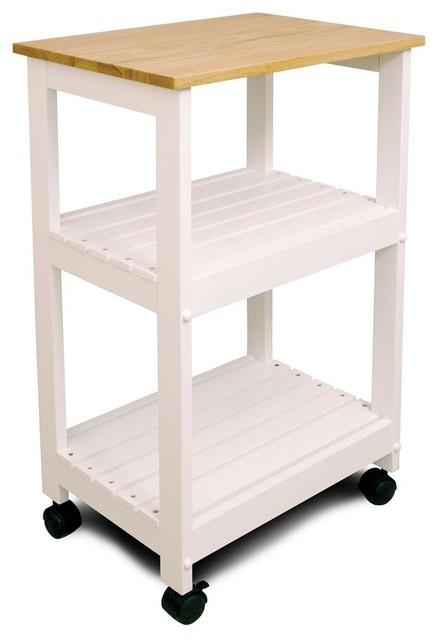 Utility Amp Microwave Kitchen Cart W 2 Slat She