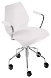 Kartell Maui Swivel Armchair - Zinc White - Modern ...