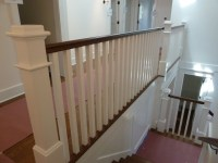 Craftsman Wood railing and staircase
