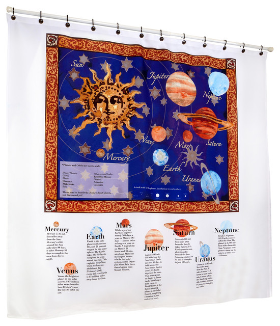 ShowerSmarts Out Of This World The Solar System Shower Curtain
