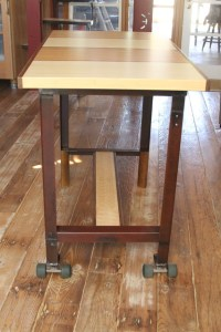 Rolling Bar Height Dining Table - Eclectic - Dining Tables ...