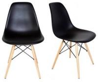 Ariel - Set of 2 DSW Black Mid Century Modern Plastic ...