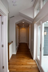 Hallway with peaked ceiling - Contemporary - Hall ...