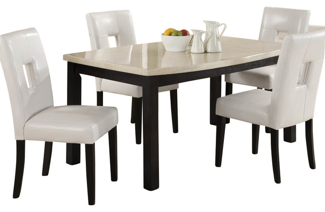 60 inch kitchen table faucet homelegance archstone dining with faux marble top transitional tables by beyond stores
