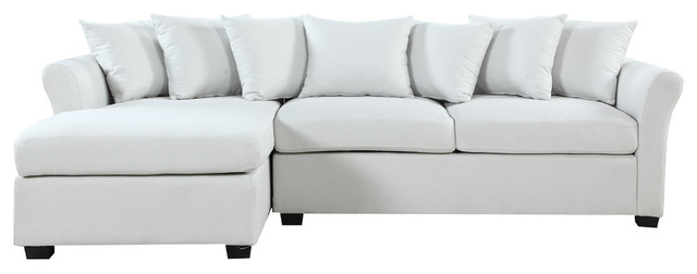 modern large linen sectional sofa with extra wide chaise lounge beige