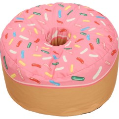 Bean Bag Chairs Indoor Swing Uk Pink Donut Adult Sized Beanbag Eclectic By Wow Works Llc