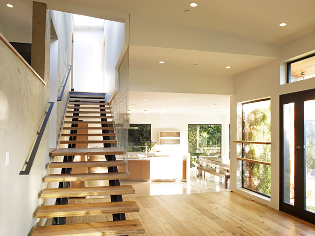 Mill Valley Contemporary Split Level Staircase To Master Bedroom