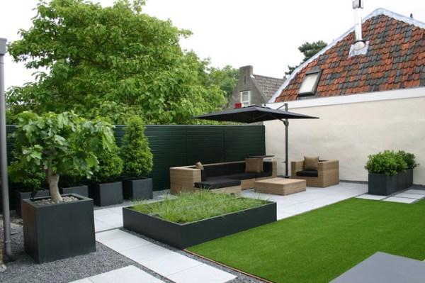 aluminium garden planters - modern