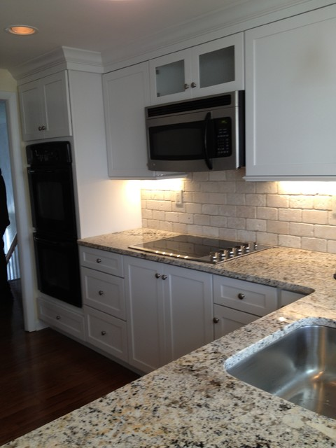 kitchen pendant lighting lowes carts ikea kraftmaid-deveron-dove white w/sensa caroline summer granite