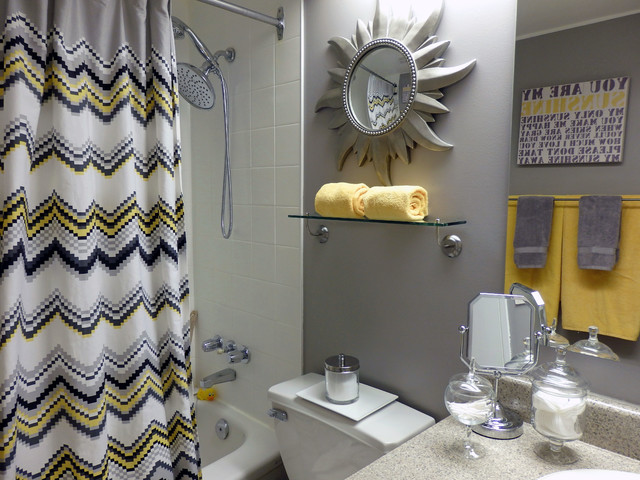 grey and yellow bathroom - contemporary - bathroom - toronto - by