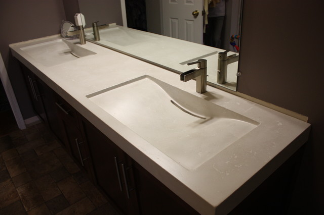 vigo kitchen faucet free standing islands with seating concrete double mirage sinks - contemporary bathroom ...