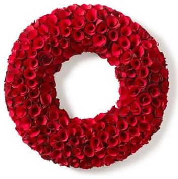 Rose Wood Wreaths Modern Wreaths And Garlands Other