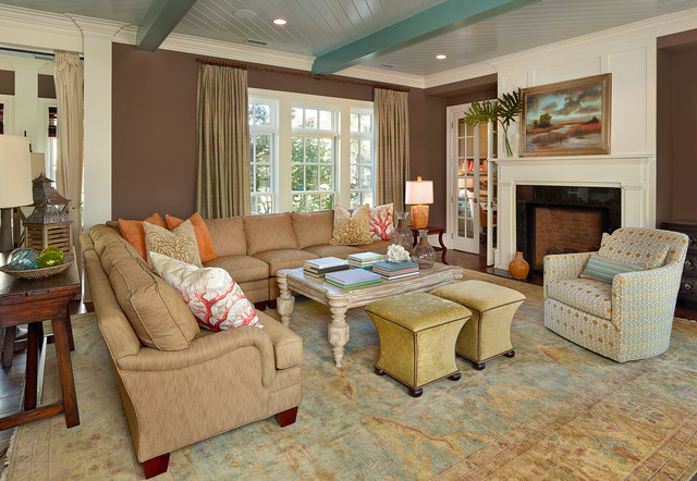 Living Southern  Beach Style  Living Room  Charleston