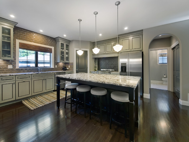 bronze kitchen lighting art park hill renovation - traditional denver by ...