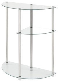 3-Tier Glass Display Table - Contemporary - Side Tables ...