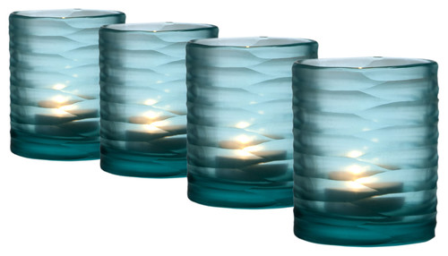 Tea Light Holder, Ocean, Set of 4
