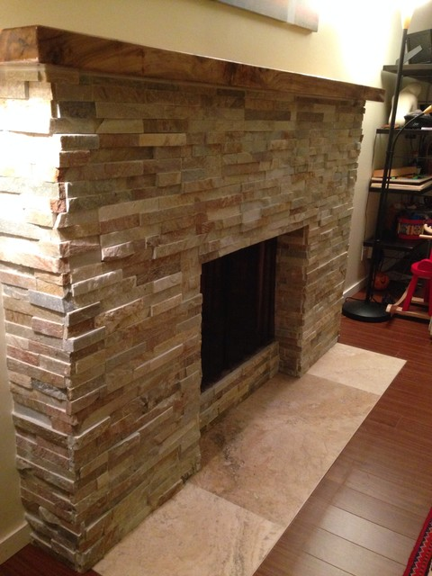 kitchen reface chair cushions target stack stone fireplace remodel - modern living room ...