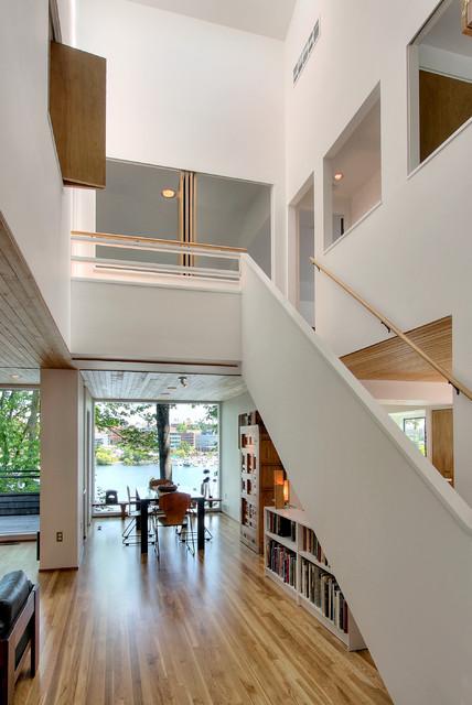Contemporary House Atrium Modern Staircase Seattle