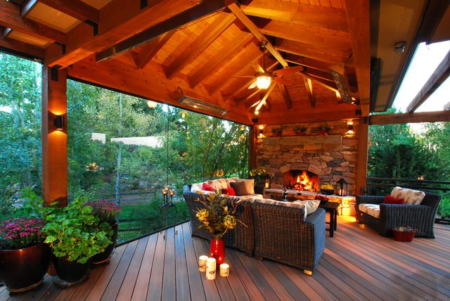 Colorado Outdoor Living Room Rustic Deck Denver By