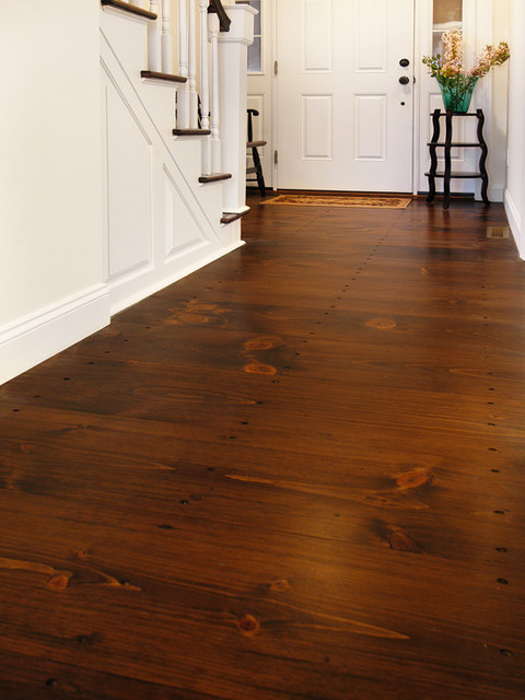 Eastern White Pine with Antique Cut Nails  Traditional  Entry  New York  by Heritage Wide