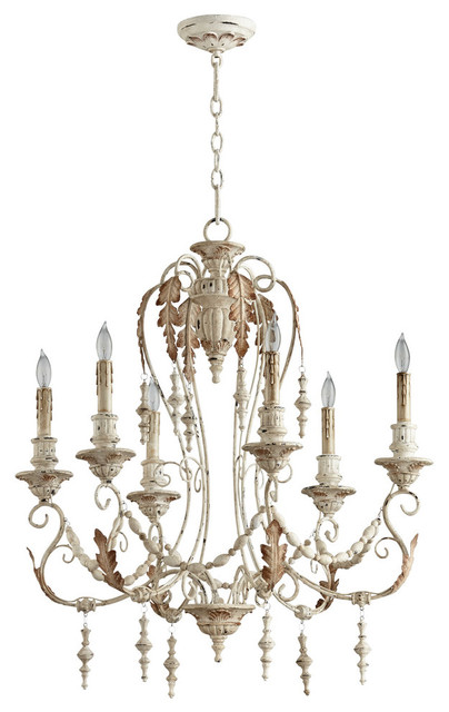 Cyan Lolina 6 Light Chandelier Persian White Traditional Chandeliers