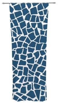 "Project M ""British Mosaic Navy"" Decorative Sheer Curtain ..."