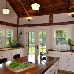 Kitchen Appliance Cabinet Canisters Cream Vaulted Ceiling - Rustic Boston By Nashawtuc ...