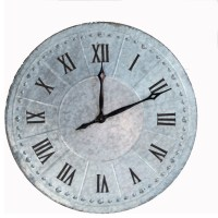 Large Industrial Galvanized Wall Clock - Industrial - Wall ...