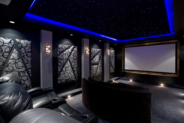 Home Theater Contemporary Home Theater Phoenix By Chris