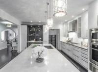 Modern White & Grey Kitchen Design Oakville - Modern ...