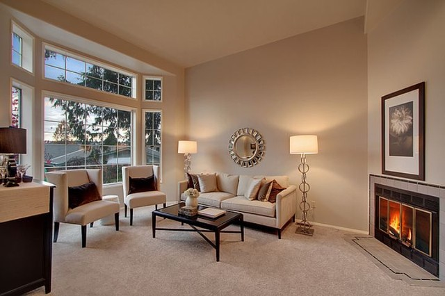 Greenlake 80s Townhouse Contemporary Living Room Seattle By Lisa Lucas Design Houzz Uk