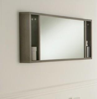 Oviedo 900mm mirror with shelves - Modern - Bathroom ...