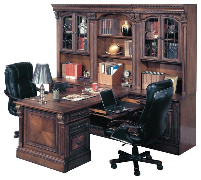 Parker House Huntington Office Peninsula Desk Wall Unit 8