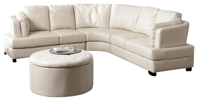 baxton studio dobson leather modern sectional sofa foam design coaster landen contemporary curved in ...