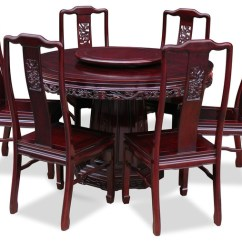 6 Chair Dining Set Folding Online Amazon 48 Rosewood Dragon Design Round Table With Chairs Asian Sets By China Furniture And Arts