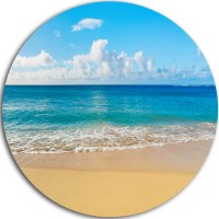 Calm Beach And Tropical Sea, Photo Disc Metal Artwork ...