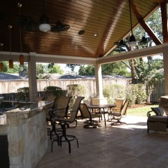 Chairs Hanging From Ceiling Folding Lounge Chair Walmart Patio Cover In Houston - Rustic By Texas Custom Patios
