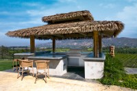 Tropical Palapa Outdoor Kitchen - Tropical - Patio - Los ...