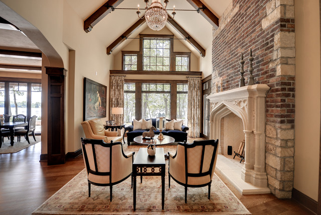 brown and green color scheme for living room tips to decorate fairytale tudor - traditional minneapolis ...