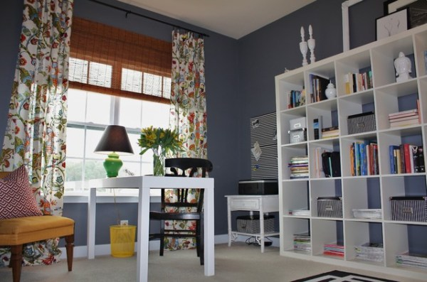green home office Green and Gray Home Office - Contemporary - Home Office - Charlotte - by Emily A. Clark