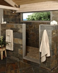 Rustic Stone Shower - Modern - Bathroom - Miami - by Beres ...