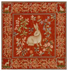 wall medieval tapestry rabbit european cushion bedroom decor tapestries