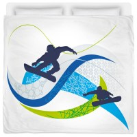 Made In USA Snowboard KIng Size Comforter - Contemporary ...