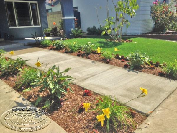 front yard walkway inviting