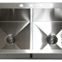 33 X 22 Kitchen Sink Best Hood X22 Top Mount Handmade Stainless Steel Zero Radius Sinks By Hardware Supply Source